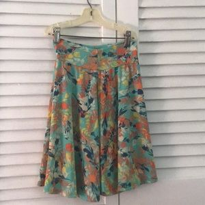 A floral LuLuRoe skirt